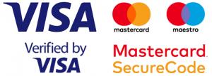 Pieņemam Visa un Mastercard maksājumu kartes